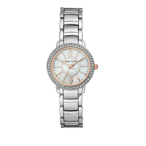 Anne Klein Silvertone Mother-of-Pearl Dial Watch