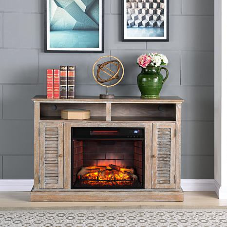 Shop Antebellum Infrared Fireplace TV Stand - Burnt Oak 8578700
