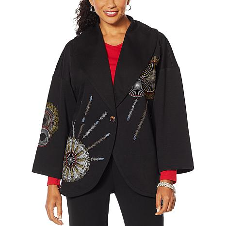 """Antthony """"Artsy Collection"""" Embroidered Jacket"""