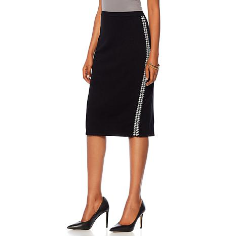 """Antthony """"Check Me Out"""" Contrast Trim Knit Skirt"""