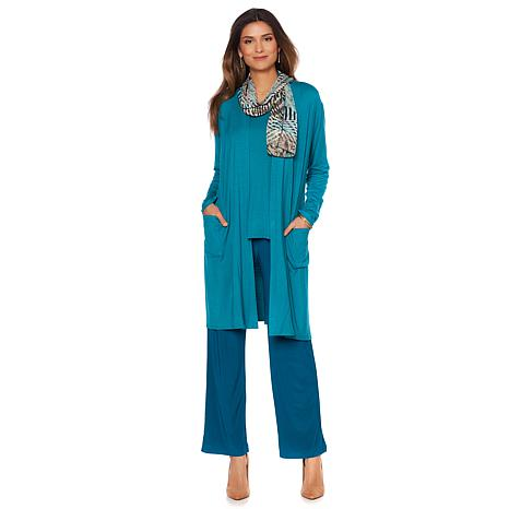 """Antthony """"City Style"""" 4-piece Long Duster Set"""