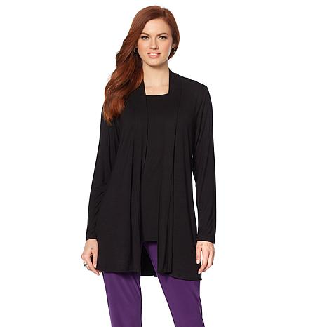 """Antthony """"Ease into Style"""" Knit Cardi and Top Set"""