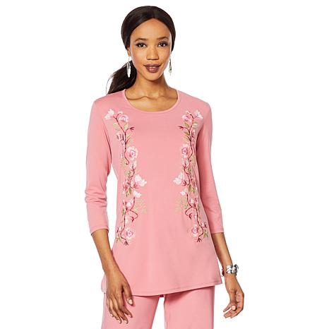 """Antthony """"Fleur For Me"""" Embroidered Tunic"""