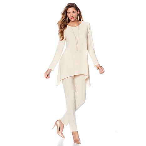 """Antthony """"Glitter"""" Asymmetric Top and Pant Set"""