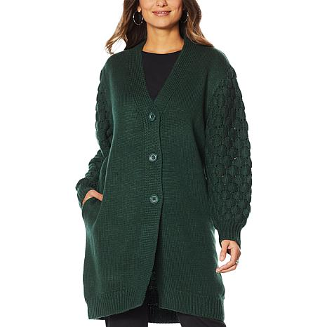 """Antthony """"Glorious Gifts for Her"""" Textured Sweater Jacket"""