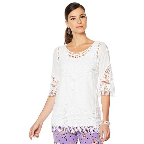 """Antthony """"Lacey Days"""" Crochet Tunic and Jersey Knit Tank"""