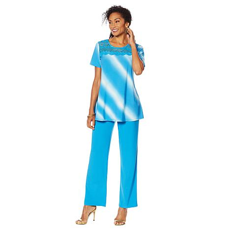 "Antthony ""Ocean Waves"" 2-piece Crochet Top and Pant Set"