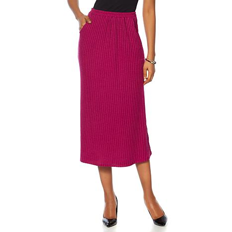 "Antthony ""Sassy and Coordinate"" Rib Knit Skirt"