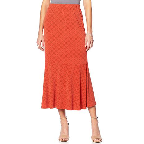 """Antthony """"Thrill Me"""" Printed Flounce Skirt"""