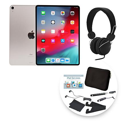"""Apple 2018 iPad Pro® 11"""" 64GB Silver Tablet with Accessories"""