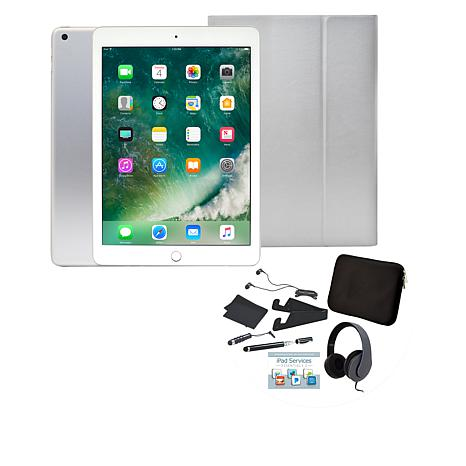 """Apple iPad® 9.7"""" 32GB Tablet with Keyboard Case and Headphones"""