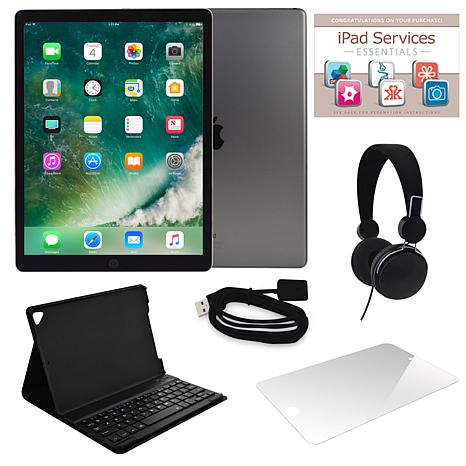 "Apple iPad Pro 12.9"" Retina 256GB Wi-Fi Tablet w/Keyboard and Software"