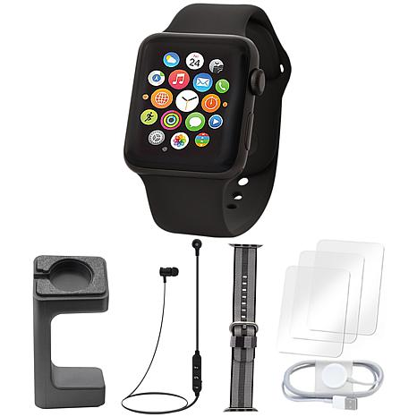 Apple Watch Series 3 38mm With Stand and Screen Protectors