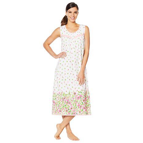 Aria Cotton Jersey Border Print Long Ballet Gown