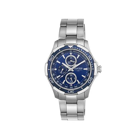 armitron men s blue dial stainless steel tachymeter watch armitron men s stainless steel tachymeter watch