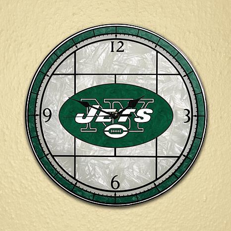 Art Glass Wall Clock - New York Jets