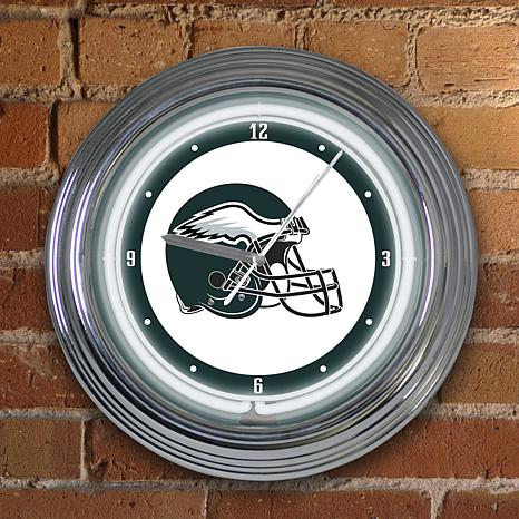 Art Glass Wall Clock - Philadelphia Eagles