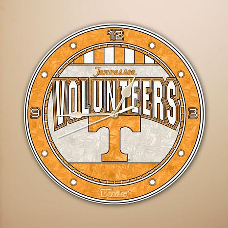 Art Glass Wall Clock - University of Tennessee