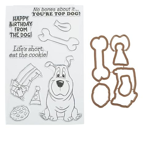 Art Impressions Dog Mouthful 15-piece Stamp and Die Set