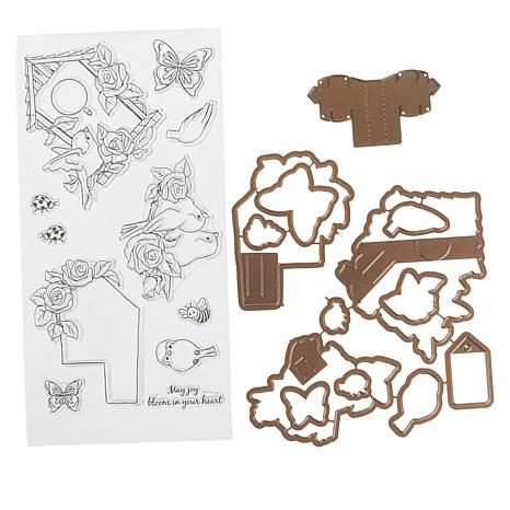 Art Impressions PopCards Floral Birdhouse and Template Die