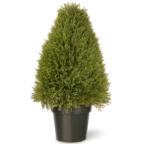 "Artificial Topiary Tree 30"" Unpright Juniper in Pot"