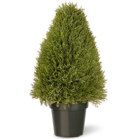 """Artificial Topiary Tree 30"""" Unpright Juniper in Pot"""
