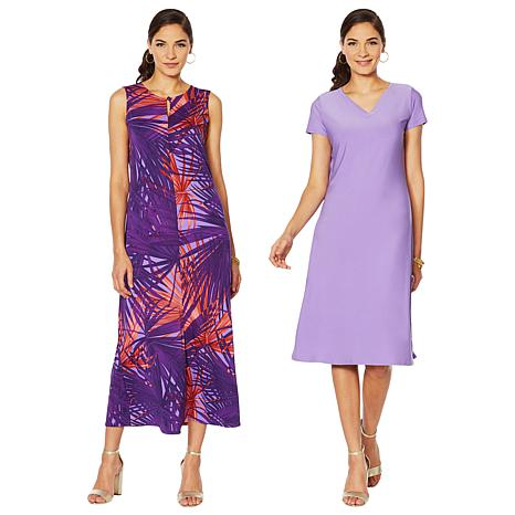 """As Is"" Antthony ""Electric Color"" 2-pack Dresses"