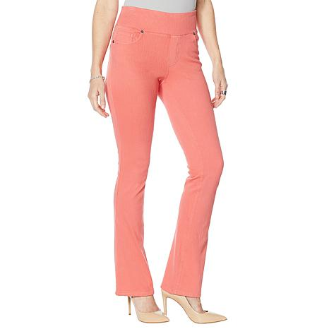 """""""As Is"""" DG2 by Diane Gilman Stretch Knit Twill Boot-Cut Jegging - F..."""