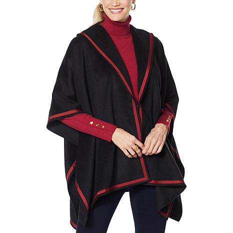 """As Is"" IMAN Global Chic Handkerchief Hem Cape Jacket"