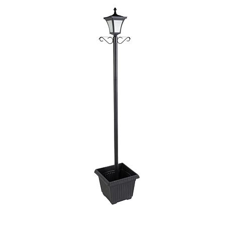 """As Is"" Improvements Solar Lamp Post with Planter"