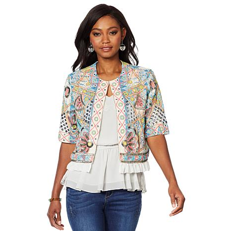"""As Is"" LaBellum by Hillary Scott Hero Embellished Jacket"