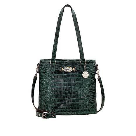 """""""As Is"""" Patricia Nash Lundy Leather Crossbody Tote"""