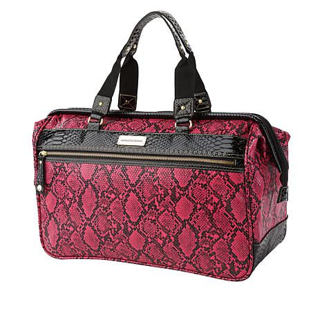 """""""As Is"""" Samantha Brown Embossed Wire Frame Satchel"""