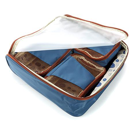 """""""As Is"""" Samantha Brown Slim Line Packing Cubes 4-piece Set"""