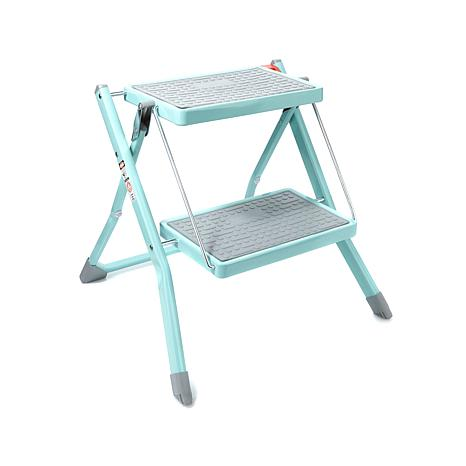 """""""As Is"""" StoreSmith Metal 2-Tier Folding Step Ladder"""