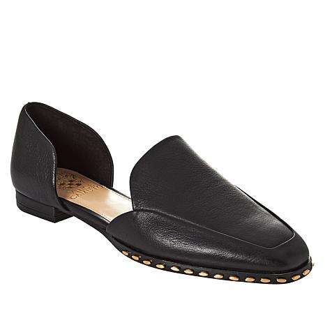 """""""As Is"""" Vince Camuto Rendolen Leather Studded 2-piece Flat"""