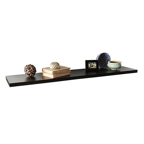 "Assissi 48"" Floating Shelf - Black"
