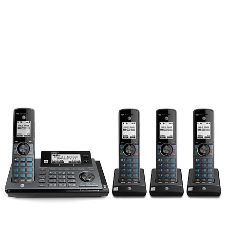 AT&T Cordless Phone 4-pack with Smart Call Block & USB Mobile Charging