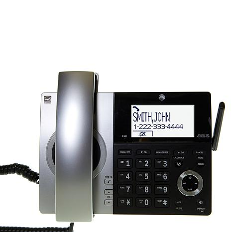ATT DECT 6 Corded Cordless Phone System With 4 Handsets Smart Call Bl