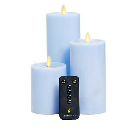 august & leo Set of 3 Moving Flame Candles by Luminara