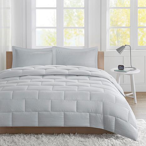 Avery Full/Queen Seersucker Down Alternative Comforter Mini Set - Gray