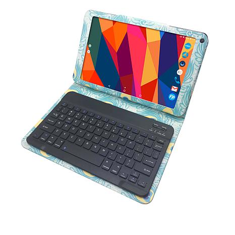 "Azpen 10.1"" 32GB Android Tablet w/Keyboard Case & 500MB Data for Life"