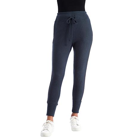 B Collection by Bobeau Brushed Knit Racer Stripe Jogger Pant
