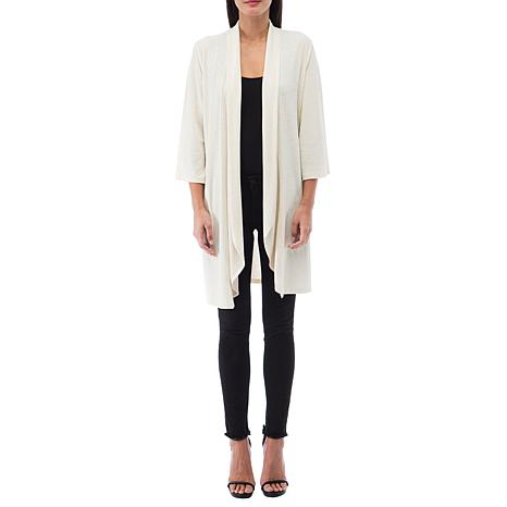 B Collection by Bobeau Ribbed Knit Duster Cardigan