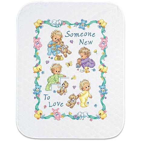 Baby Hugs Quilt Stamped Cross Stitch Kit