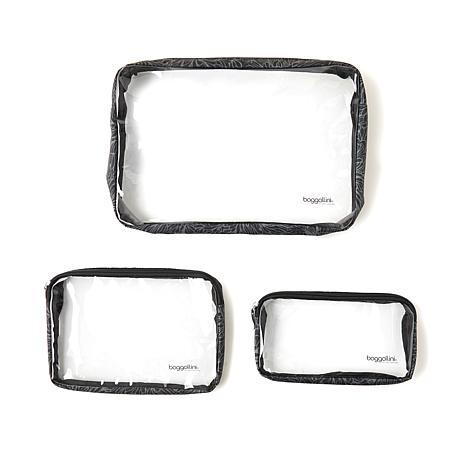 Baggallini Set of 3 Clear Travel Pouches