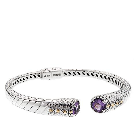 Bali Designs 3ctw Amethyst Cable Pattern Bangle