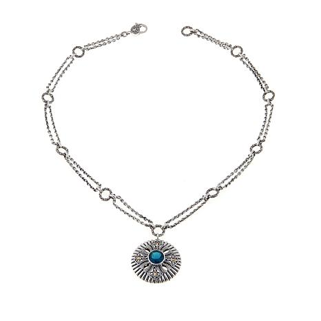 "Bali Designs 4.5ct London Blue Topaz 18"" Necklace"
