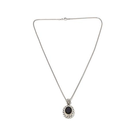 Bali Designs 4.62ctw Black Spinel Pendant w/Chain