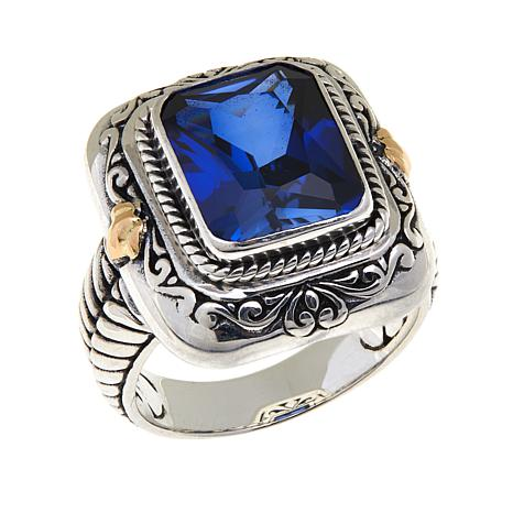 Bali Designs 4.8ct Created Blue Sapphire Ring